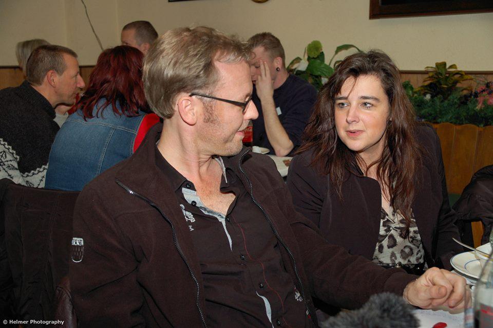 Mit Thomas Wirtz: es ist immer schön andere Kollegen-Künstler zu treffen. Bild: Angelika Helmer
